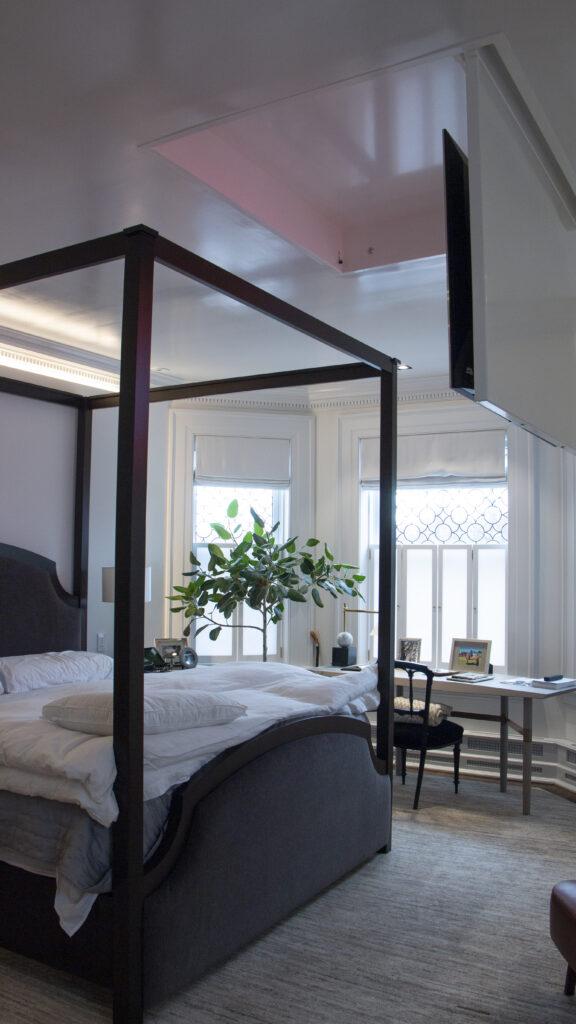 Bedroom hidden TV