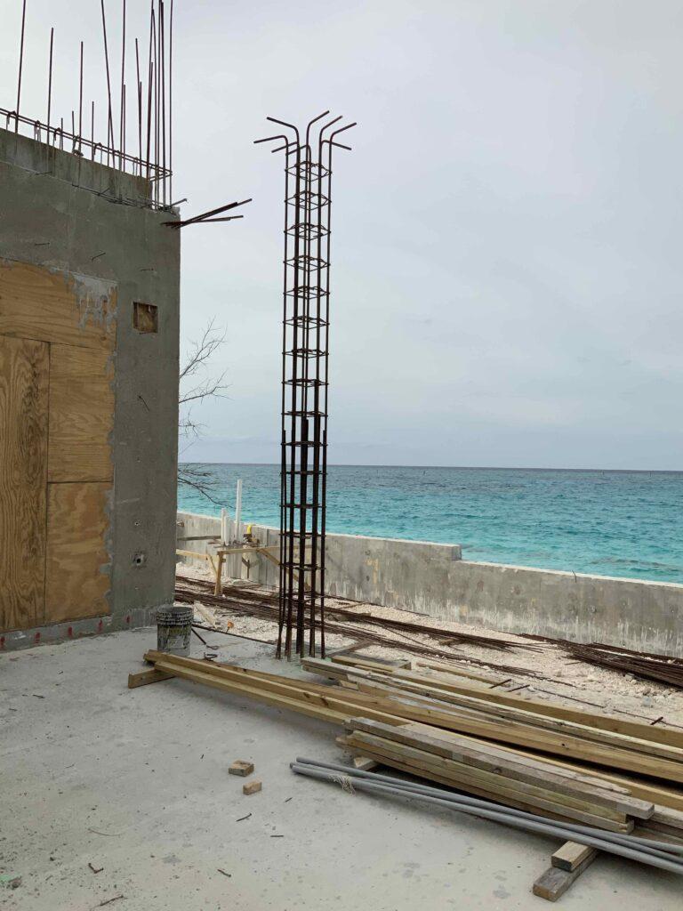 Beach house construction
