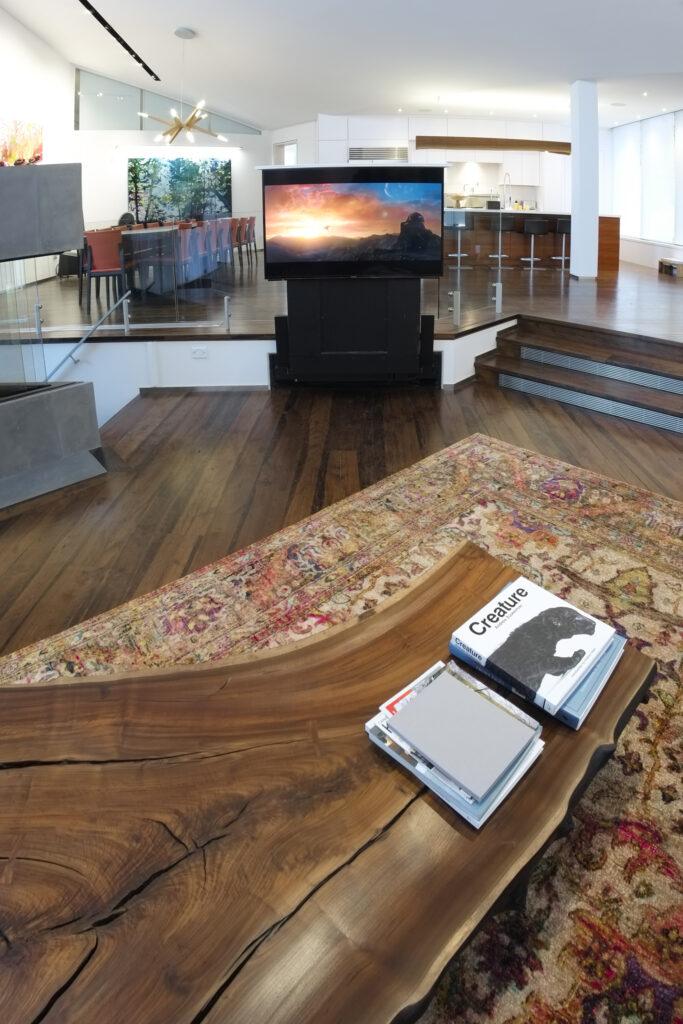 Living room hidden TV