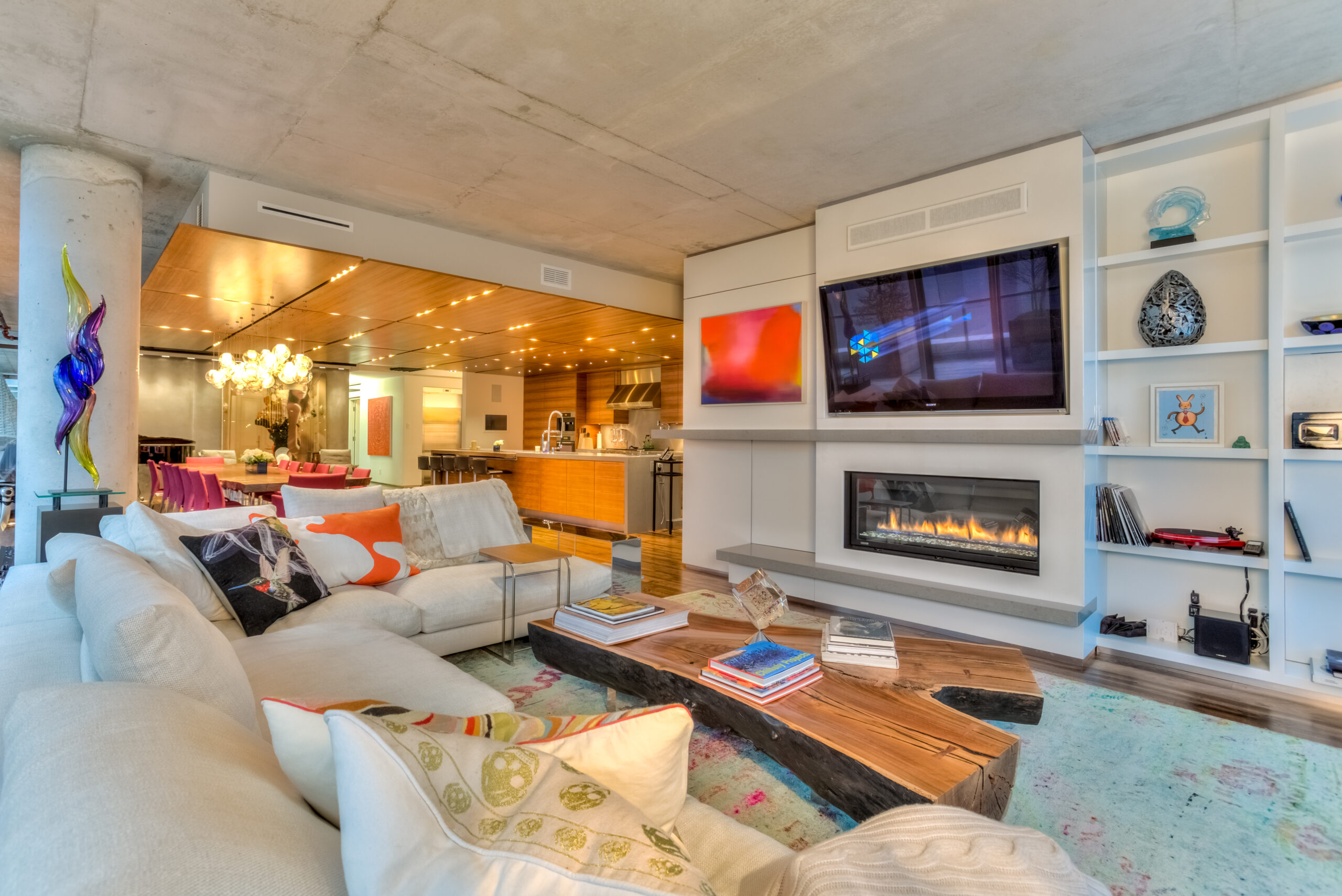 Living room - audio video distribution
