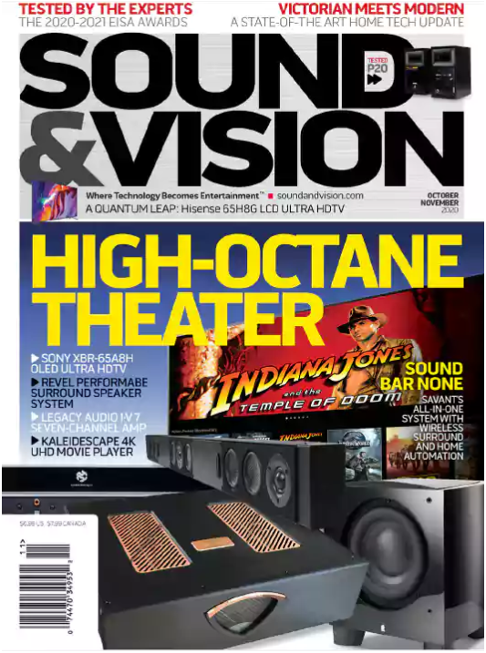 Sound & Vision October-November 2020 magazine article