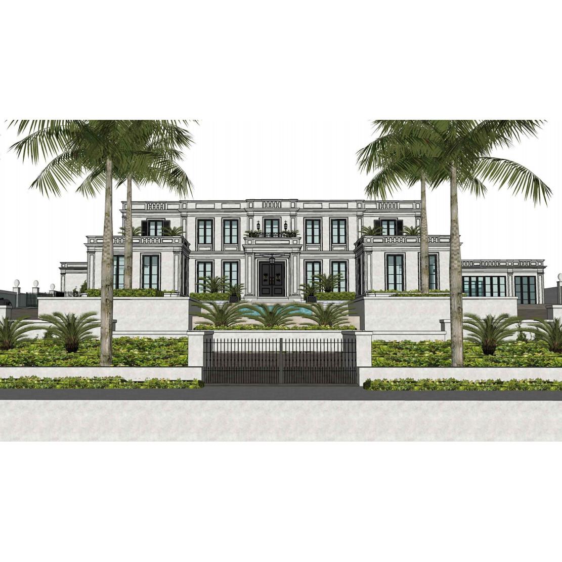 Bahamas beach house sketch